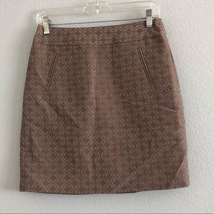 Ann Taylor Loft MoroccanTile Print Skirt Sz 0